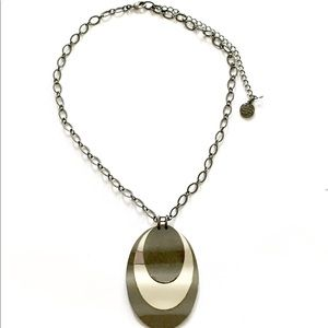 Dana Buchman gunmetal Necklace